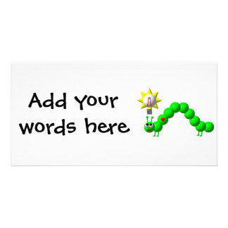 Cute Inchworm with an idea! Card