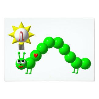 Cute Inchworm with an idea! Custom Announcement
