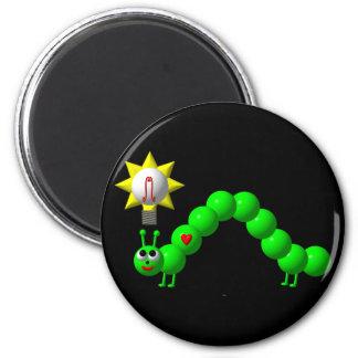 Cute Inchworm with an idea! Magnet