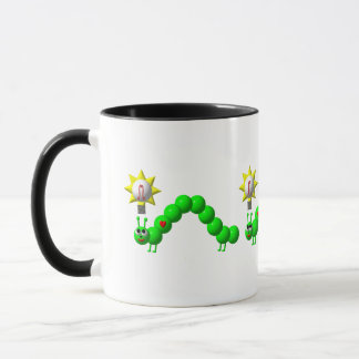 Cute Inchworm with an idea! Mug