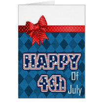 cute Independence Day fourth of july greetings Card