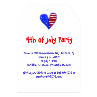 Cute Independence Day party invite