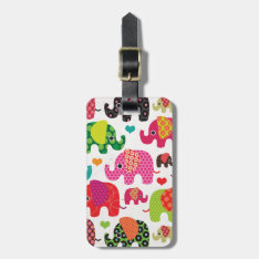 Cute india elephant festival pattern travel tag at Zazzle