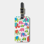 Cute india elephant kids pattern travel tag tags for bags