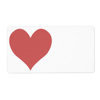 Cute Indian Red Heart Label