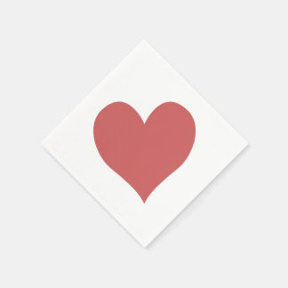 Cute Indian Red Heart Paper Napkin
