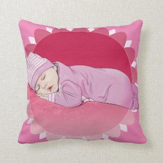 Cute Pillow Illustration : Baptism Pillows - Decorative & Throw Pillows Zazzle