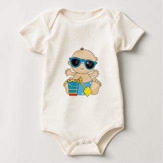 Cute infant Beach outfit zazzle_shirt
