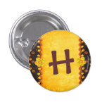 cute initials buttons