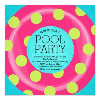 Cute Inner Tube Floatie Summer Pool Party Card