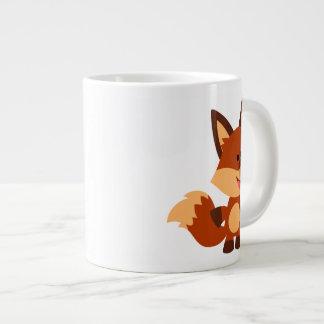 Cute Innocent Cartoon Fox Jumbo Mug