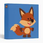 Cute Innocent Cartoon Fox Vinyl Binders