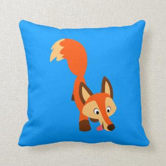 Cute Inquisitive Cartoon Fox Pillow