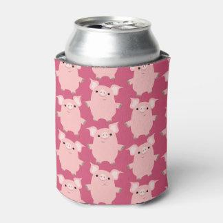 Cute Inquisitive Cartoon Pigs Can/Bottle Cooler