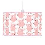 Cute Inquisitive Cartoon Pigs Pendant Lamp