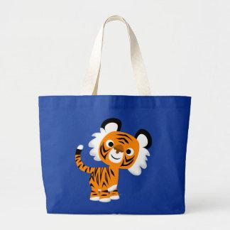 Cute Inquisitive Cartoon Tiger Bag