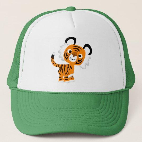 Cute Inquisitive Cartoon Tiger Hat