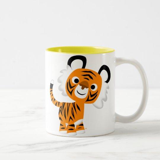 Cute Inquisitive Cartoon Tiger Mug