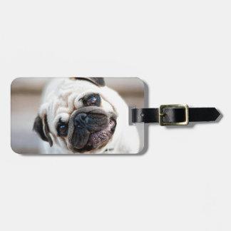 Cute Inquisitive Pug Design Travel Bag Tag