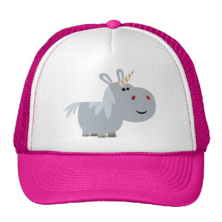 Cute Inscrutable Cartoon Unicorn Hat