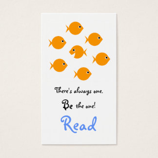 Cute Inspirational Elementary School Bookmarks Business Card