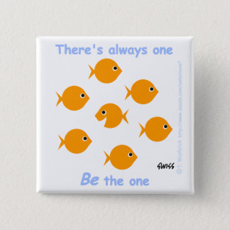 Cute Inspirational Goldfish Button