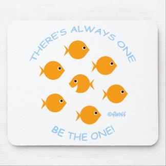 Cute Inspirational Goldfish Mousepad
