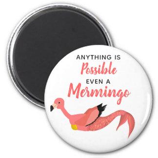 Cute Inspirational Mermaid Flamingo/Mermingo Magnet