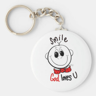 Cute inspirational pin basic round button keychain
