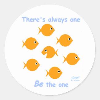 Cute Inspirational Teacher Stickers Round Sticker