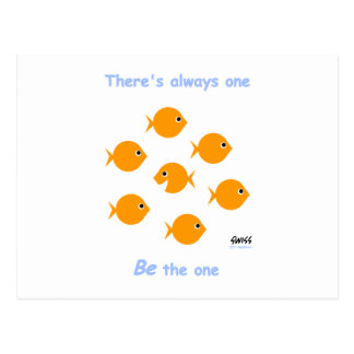 """Cute Inspirational """"There's Always One"""" Cartoon Post Card"""