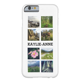 Cute Instagram Photos and Personalized Name Barely There iPhone 6 Case