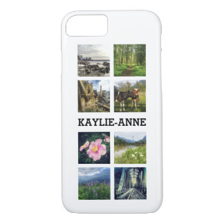 Cute Instagram Photos and Personalized Name iPhone 7 Case