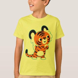 Cute Interested Cartoon Tiger Children T-Shirt