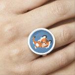 Cute Interested Cartoon Tiger Ring