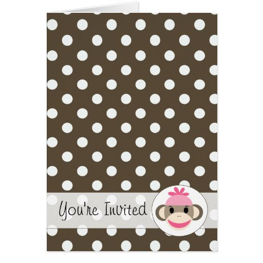 Cute Invitations By The Sock Monkey Shoppe Cards