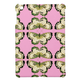 cute iPad Mini case pink and green butterfly print