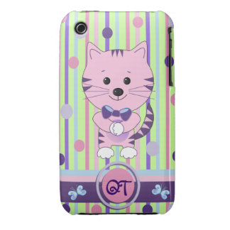 Cute iPhone 3G/3GS case-mate case with Cat & text iPhone 3 Cases