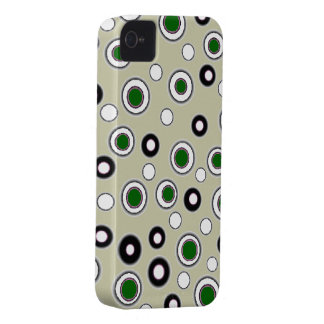 Cute iPhone 4 & 4S Case Khaki Green & White Dots iPhone 4 Covers