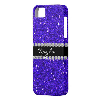 CUTE  IPHONE 5  CASE BLING ROYAL BLUE