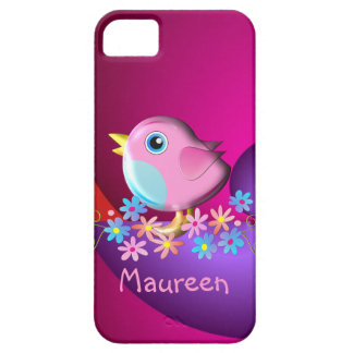 Cute iPhone 5 case with bird and Name
