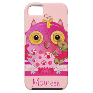 Cute iPhone 5 case with Cartoon baby Owl & Name