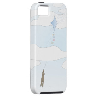 Cute iphone 5s case - Bear with kite and clouds