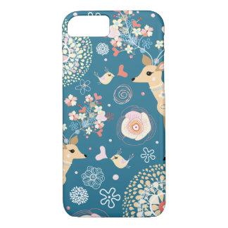 Cute iPhone 7 case, bird, deer iPhone 7 Case