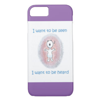 "Cute iPhone 7 Case / ""I want to be heard"""