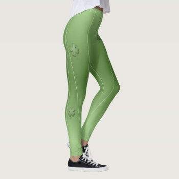 Cute Irish Clover Design Leggings