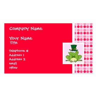 Cute Irish Frog Business Card