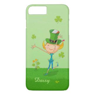 Cute Irish Girl Green Lucky Shamrock Clovers iPhone 7 Plus Case