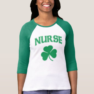 Cute Irish Nurse Shamrock Tee Shirt