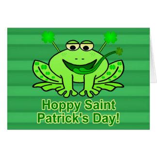 Cute Irish Saint Patrick's Day Frog Card